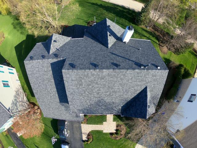 Vernon Hills, IL - New Midnight Black Shingles on this beautiful home