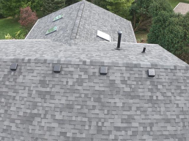 West Chicago, IL - New Roof installed with Midnight Black Shingles