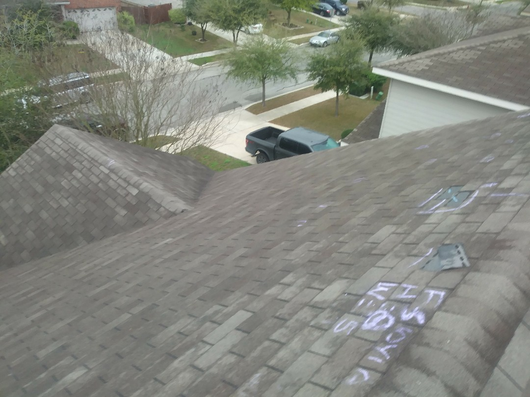Cibolo, TX - Insurance adjuster roof inspection for wind & hail in Cibolo TX