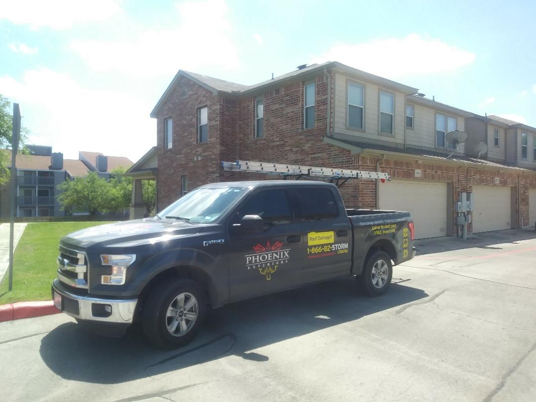 San Antonio, TX - Commercial roofing inspection for Phoenix Exteriors