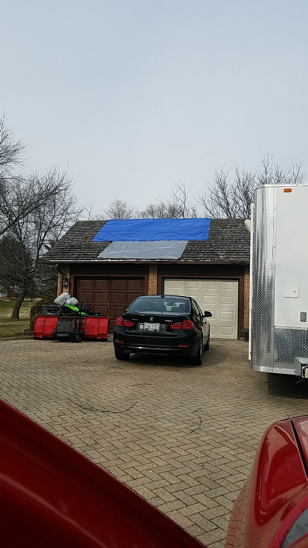 Elgin, IL - Tarping Wind damage, Hail damage, Fire damage!