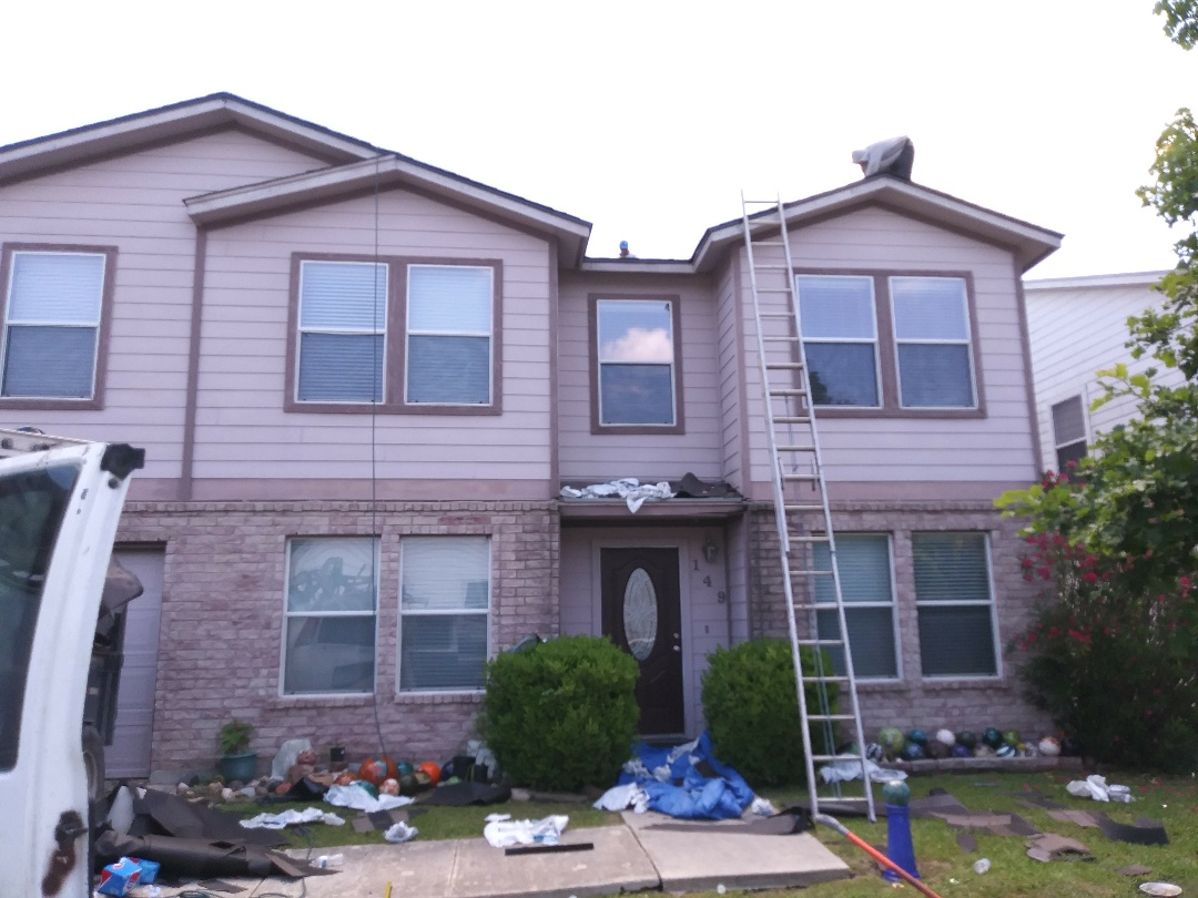 Cibolo, TX - Certainteed Landmark roofing shingle installation