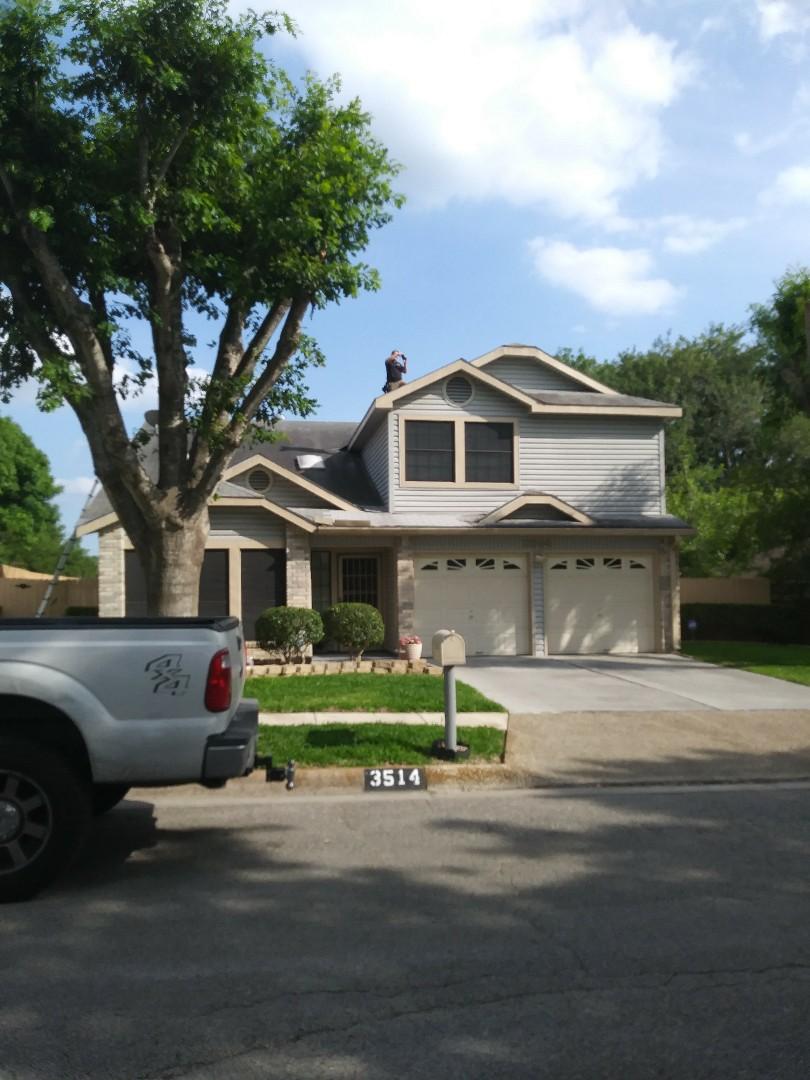 Schertz, TX - Roof inspection for hail amd wind damage