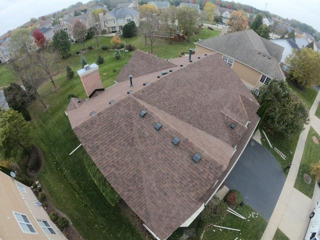Vernon Hills, IL - Beautiful Roof & Gutters with new vents
