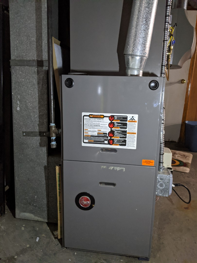 Detroit, MI - Rheem furnace service. Clean and check.