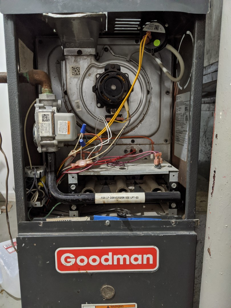 Hazel Park, MI - Furnace repair Goodman furnace clean flame sensor