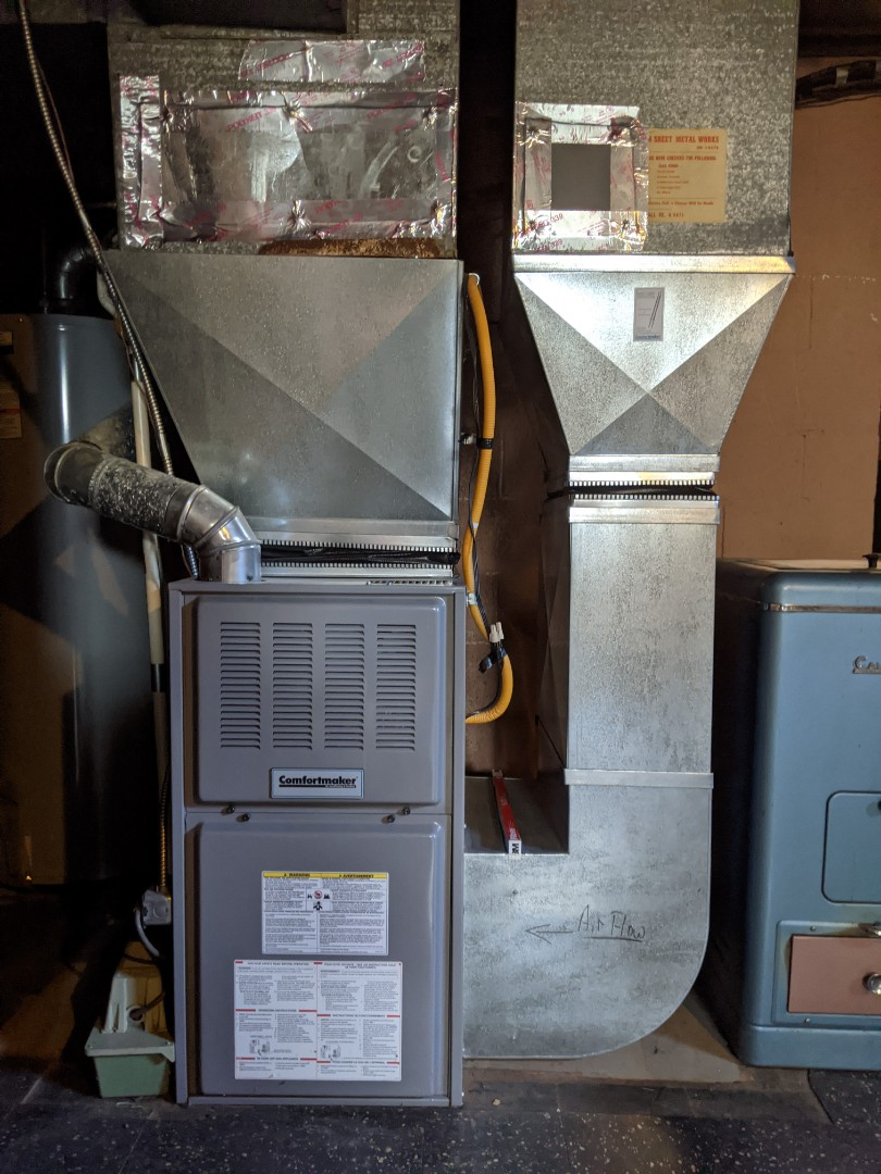 Southfield, MI - Comfortmaker furnace clean and check warm air blowing well