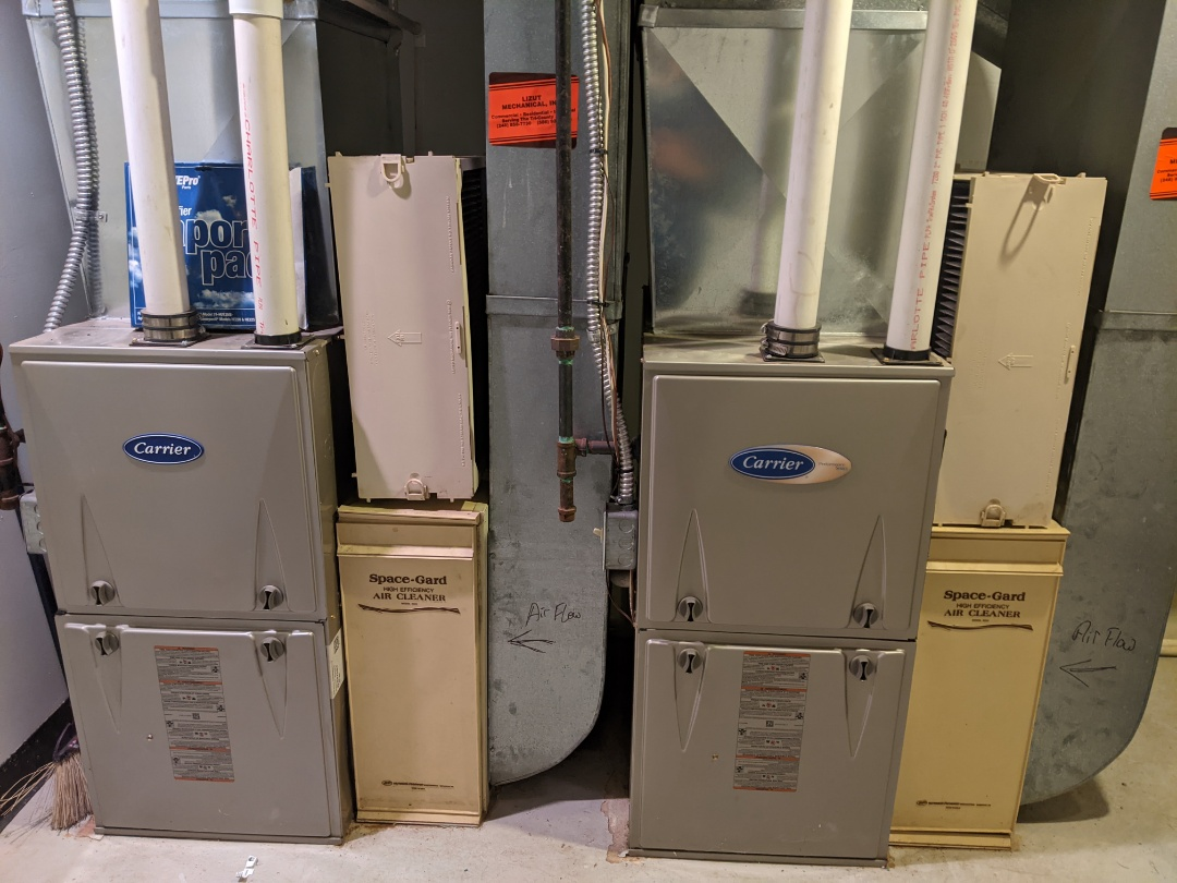 Furnace service call performed repair on Carrier furnace replaced inducer motor
