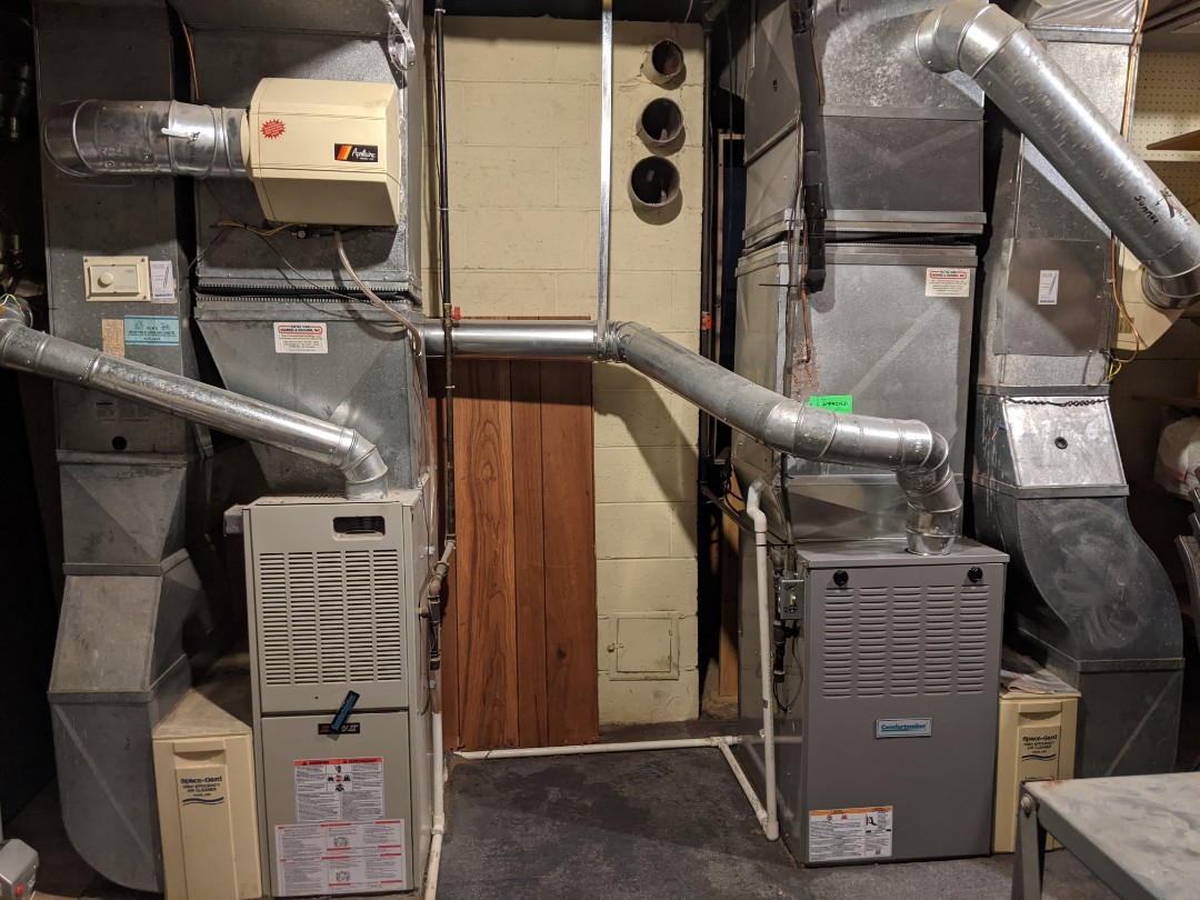 Furnace humidifier maintenance Comfortmaker furnace tune up Aprilaire humidifier annual cleaning