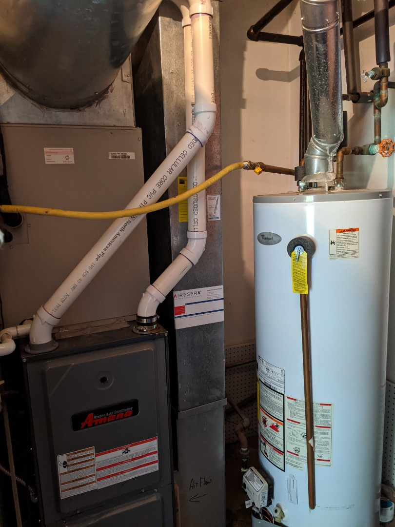 West Bloomfield Township, MI - Furnace water heater maintenance performed comfortmaker and amana furnace gama water heater annual tune up repair