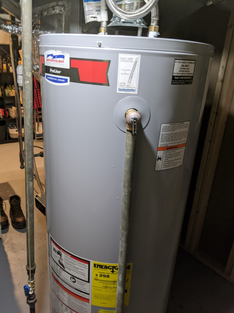 Royal Oak, MI - Water heater install. American water heaters Pro-Line commercial grade installed