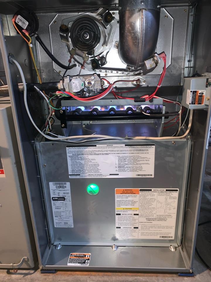 Furnace tune up performed repair maintenance on ComfortMaker Furnace