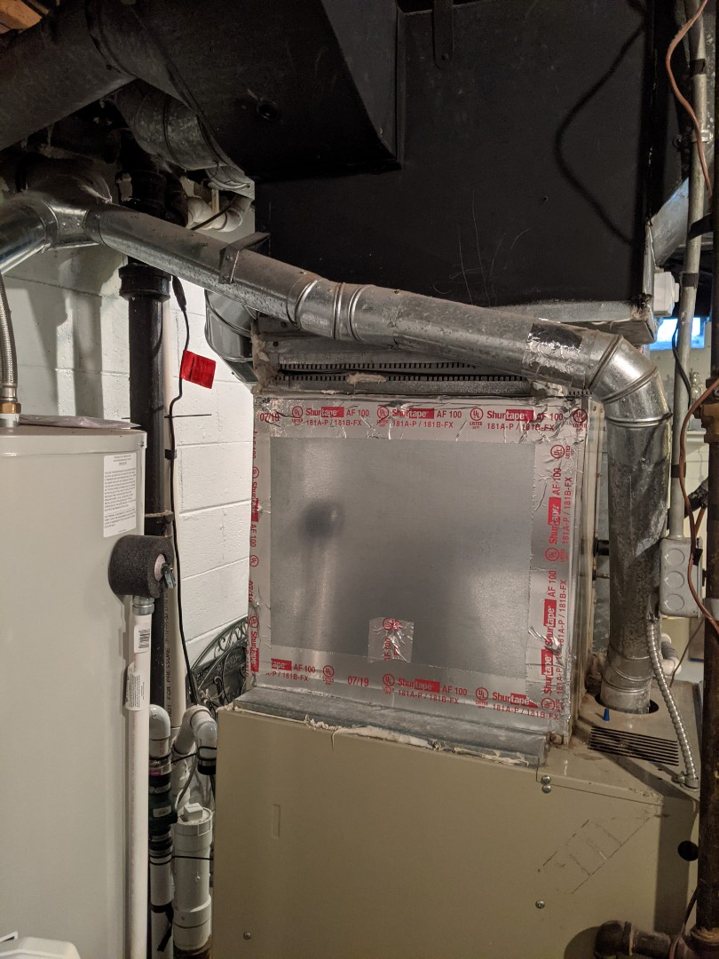 Humidifier install Arcoaire furnace Generalaire humidifier install.
