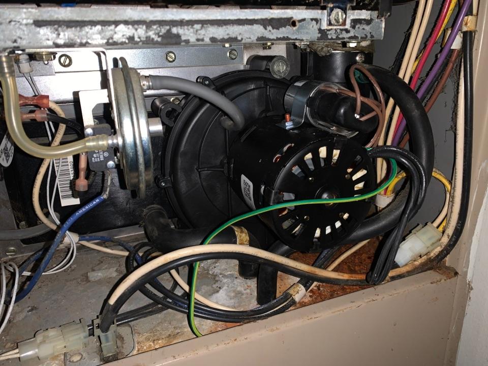 Livonia, MI - Furnace repair York, No heat Replaced Inducer Motor