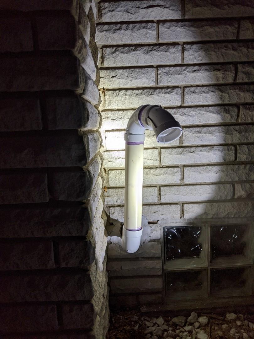Southfield, MI - Exhaust pipe remake. Evcon furnace.