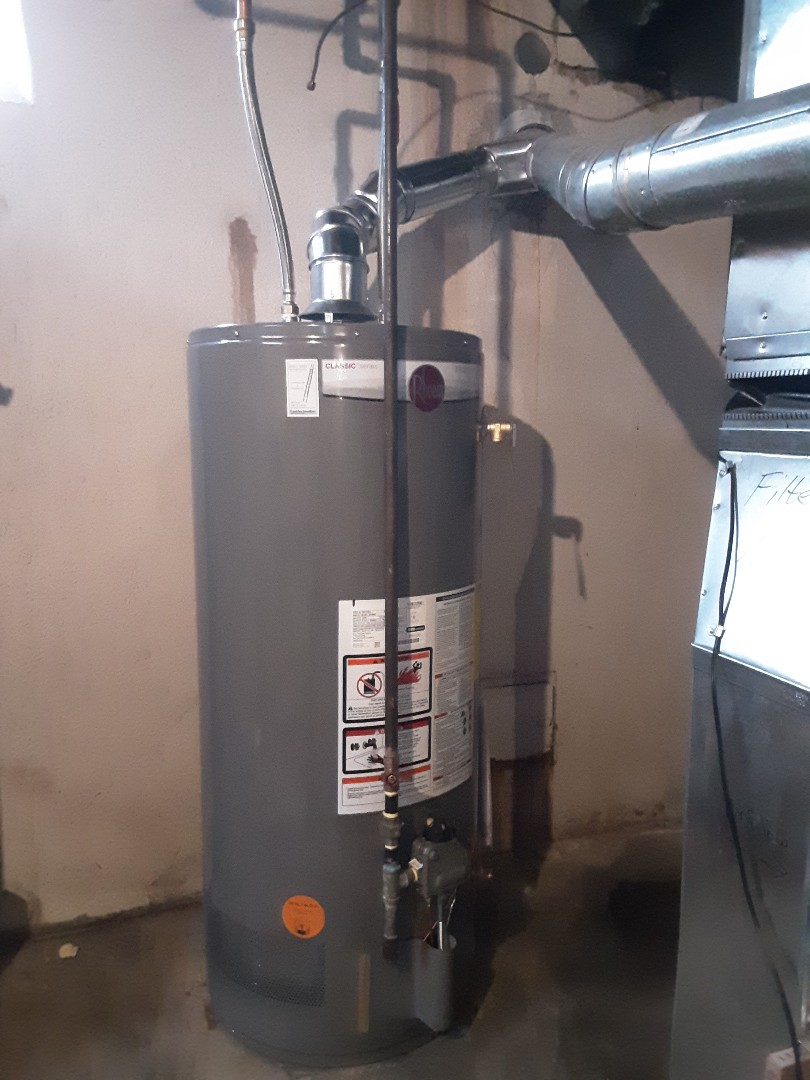Oak Park, MI - Rheem water heater install