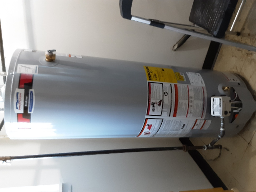 American water heater install