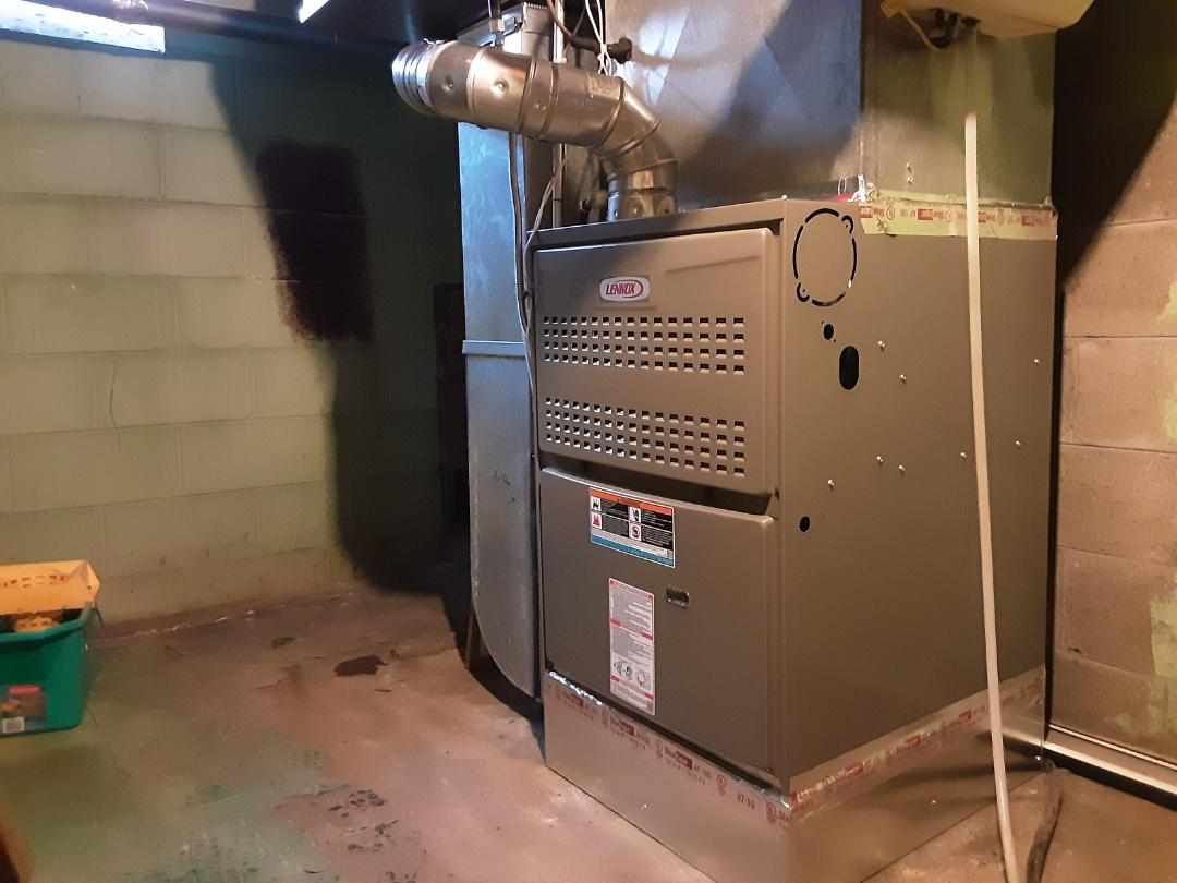 Lennox furnace install