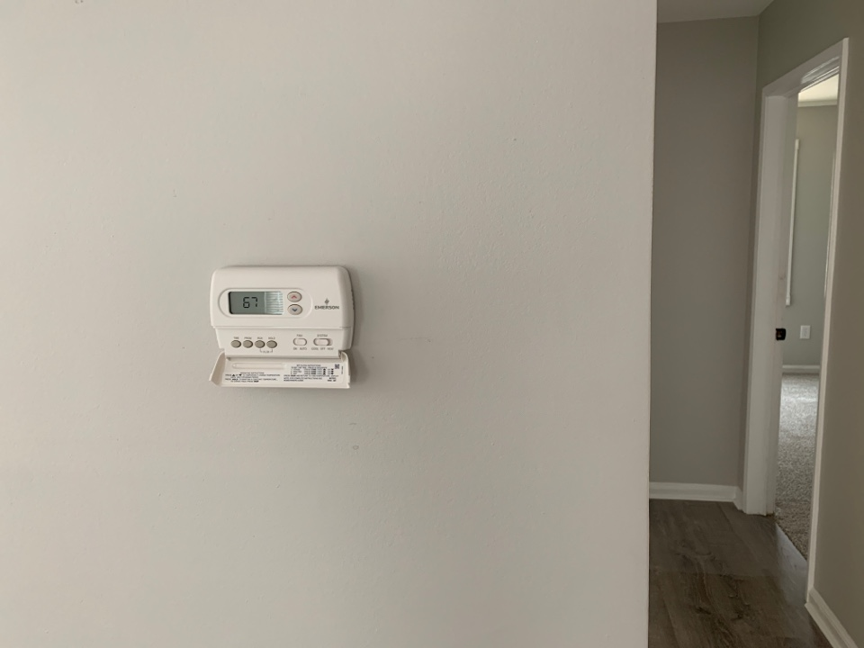 New programmable thermostat!