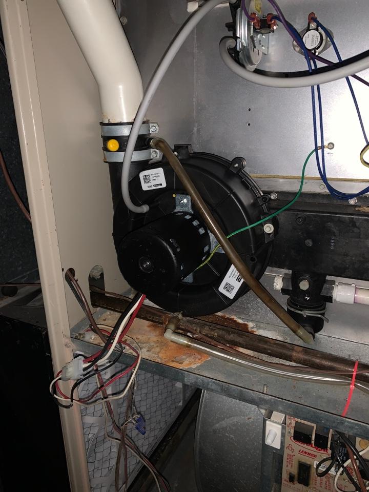 Franklin, MI - Lennox furnace, no heat: Bad Inducer Motor was replaced.