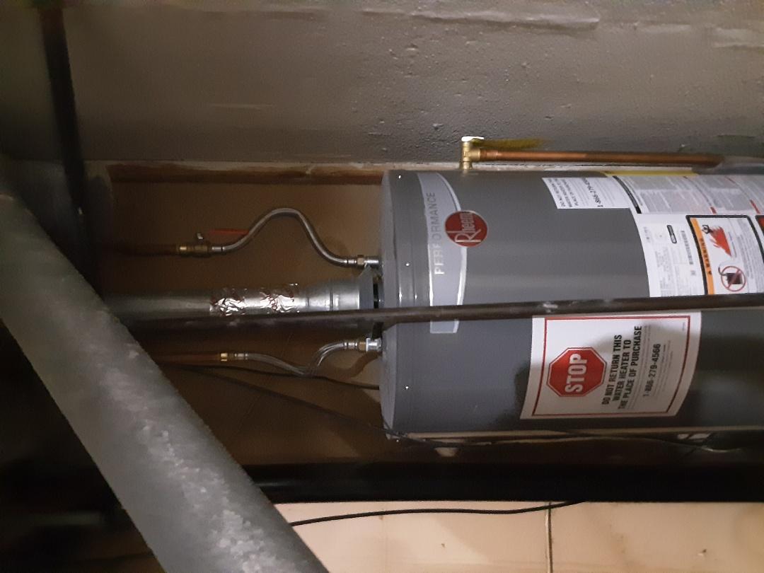 Southfield, MI - Rheem water heater carbon monoxide testing