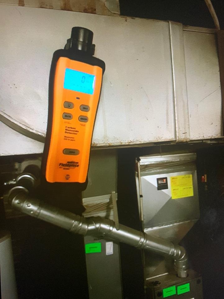 Oak Park, MI - Rheem furnace: CO testing