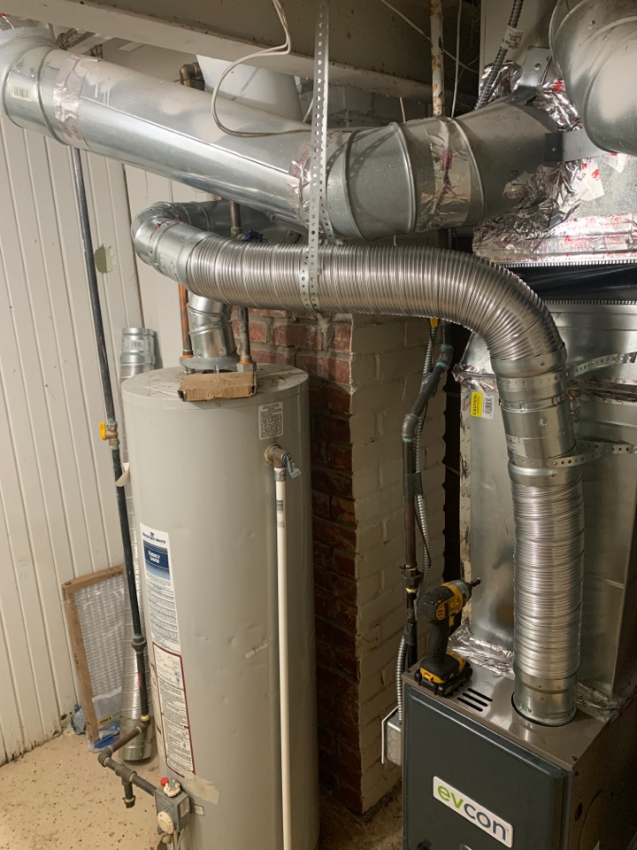 Evcon furnace, no heat: New exhaust to clear furnace code