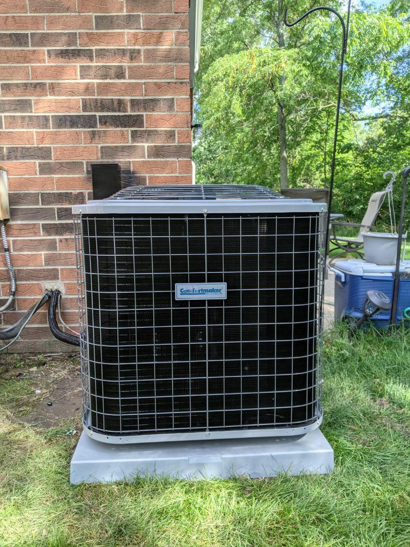 Southfield, MI - Comfortmaker air conditioner install