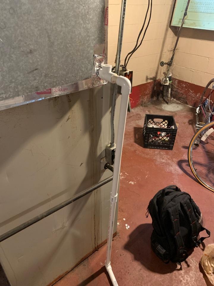 Detroit, MI - Rheem Furnace, Water Dripping around unit: New PVC drain needed
