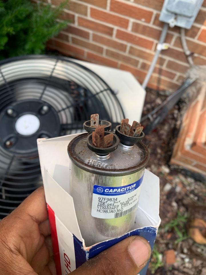 Payne, No Cooling: Bad capacitor