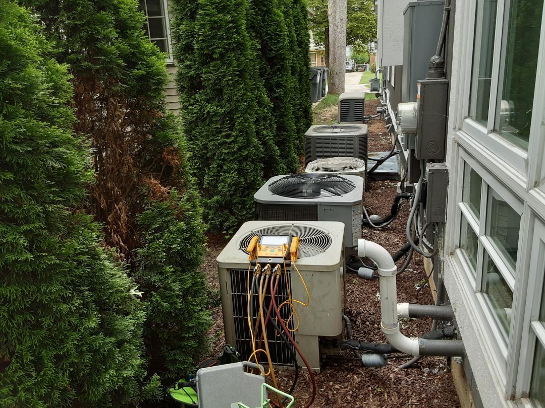 AG high efficiency air conditioner. Fuse blown due to power outage.