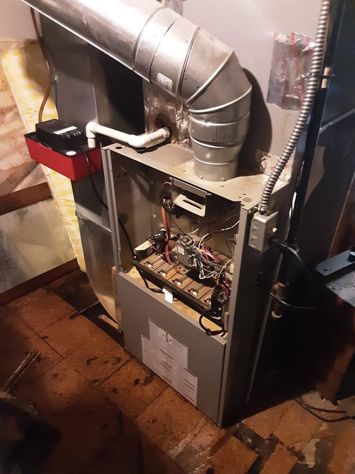 Water Dripping around furnace: Condensate Pump was unplugged