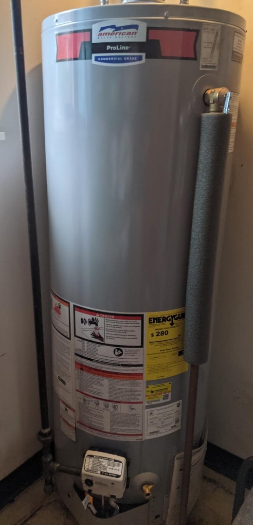 West Bloomfield Township, MI - American water heater install.