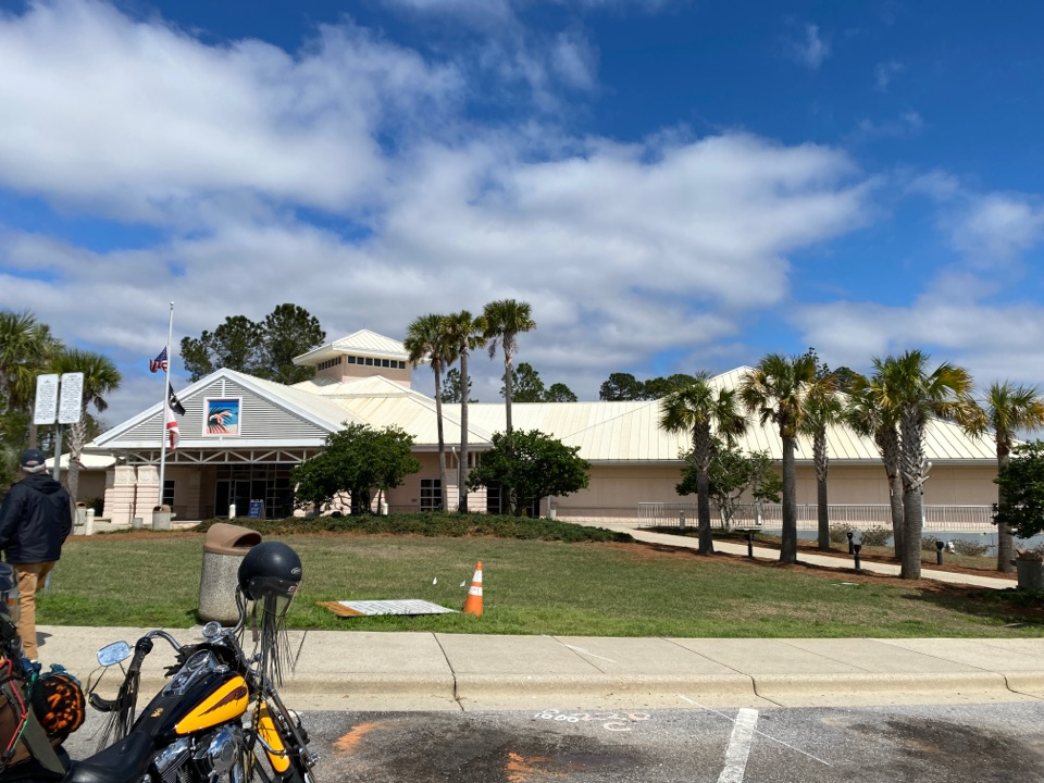 Pensacola, FL - Pre-Construction check at the Florida Visitor Center on East bound I-10 Florida Alabama border. Quality assurance follow up. Interior /exterior photos. Removing and reinstalling mechanically seemed steel panels.