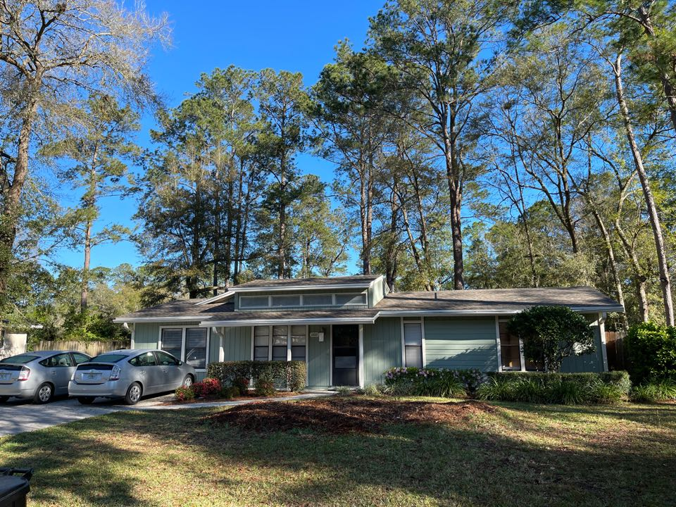 "Gainesville, FL - We just finished putting this tree damage at home that together in Gainesville Florida with a complete GAF roofing system with a lifetime gold pledge warranty on top of our 10 year workmanship warranty. This customer says ""bring on the hurricane""."