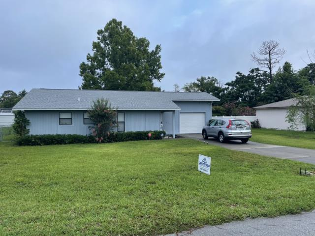 Ocala, FL - Remove old Plywood and Shingle replace with new plywood and GAF Timberline HDZ Birchwood Shingle Install half-lapped GAF Feltbusters underlayment to building code specifications. Install new Bullet Boot Shields on all plumbing projections. Install new Weatherwatch IWS in all valleys. Install 1.75 face Aluminum eave drip. A Lifetime Warranty to be issued by manufacturer.