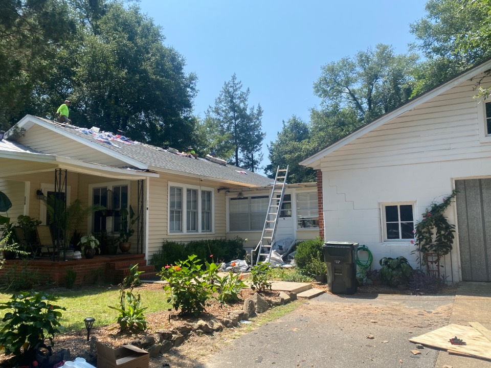 DeFuniak Springs, FL - Mid-construction follow up. We will complete this project today. We removed a 20 year three tab shingle and installed a 50 year architectural shingle