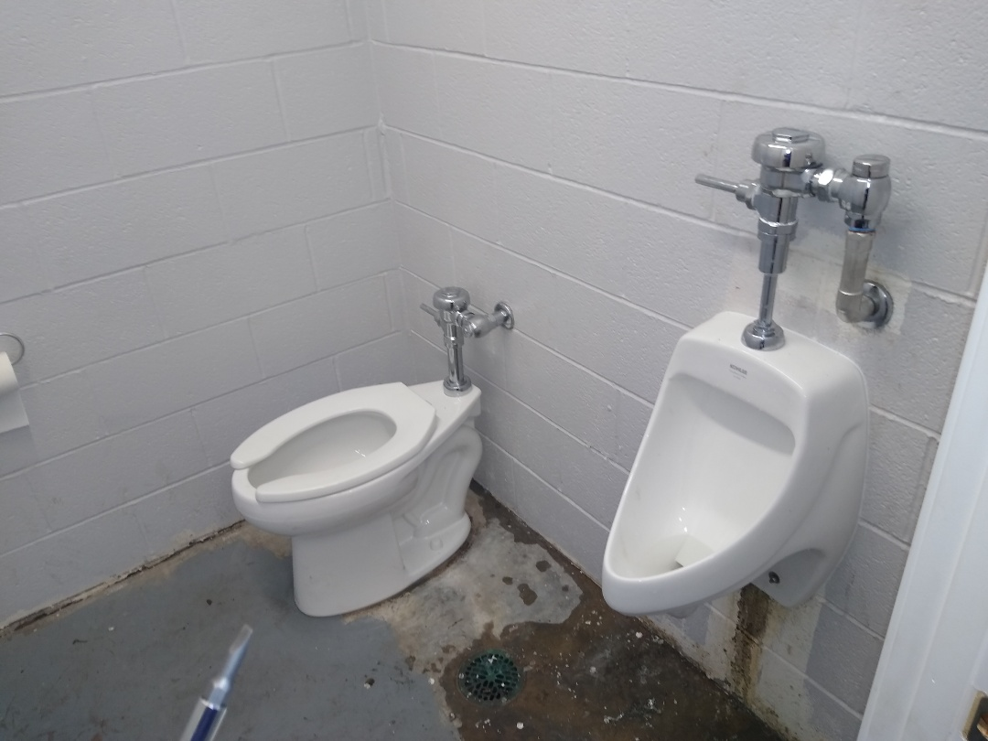Florissant, MO - Urinal and toilet