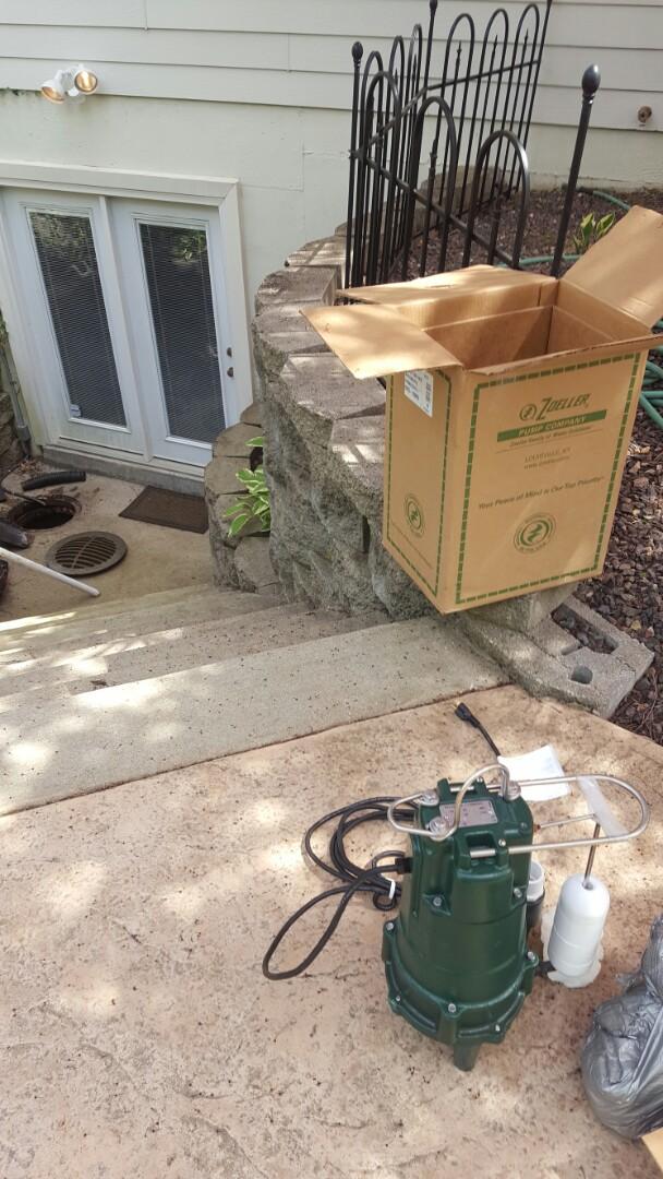 Chesterfield, TX - Grinder pump install