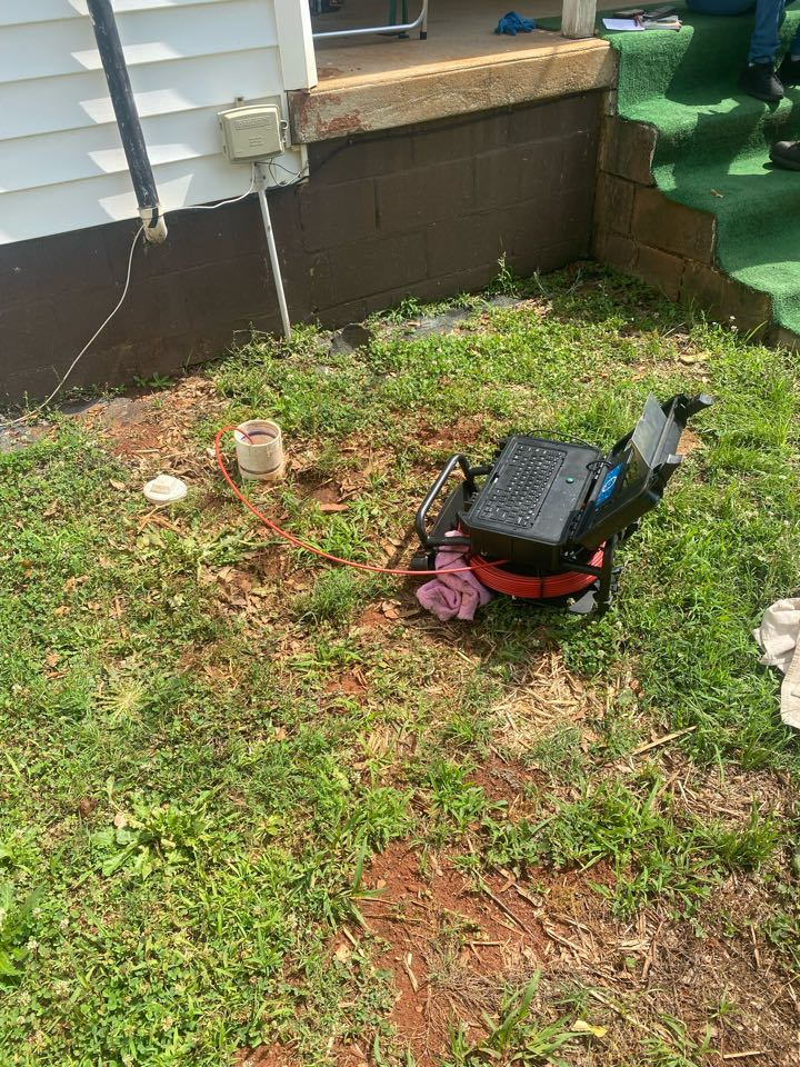 Anderson, SC - Inspecting a main sewer line
