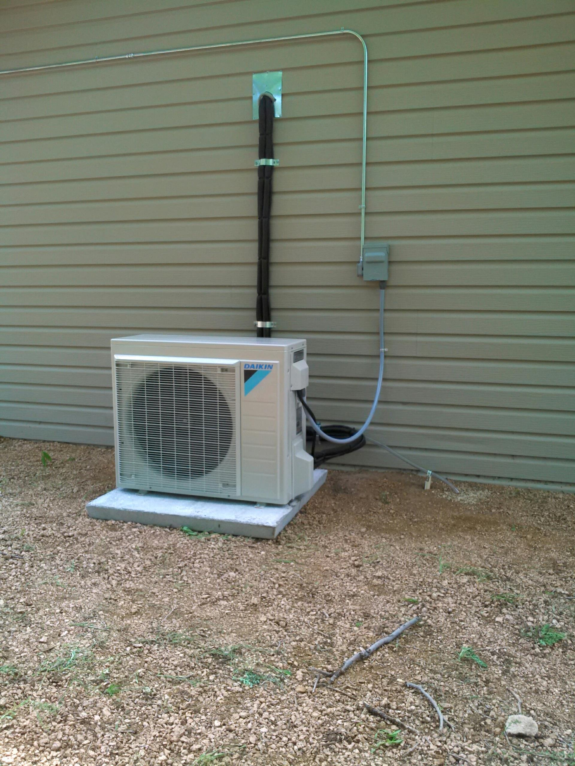 Canyon, TX - New installation of a Daikin mini split air conditioning system by Amarillo Air Conditioning.