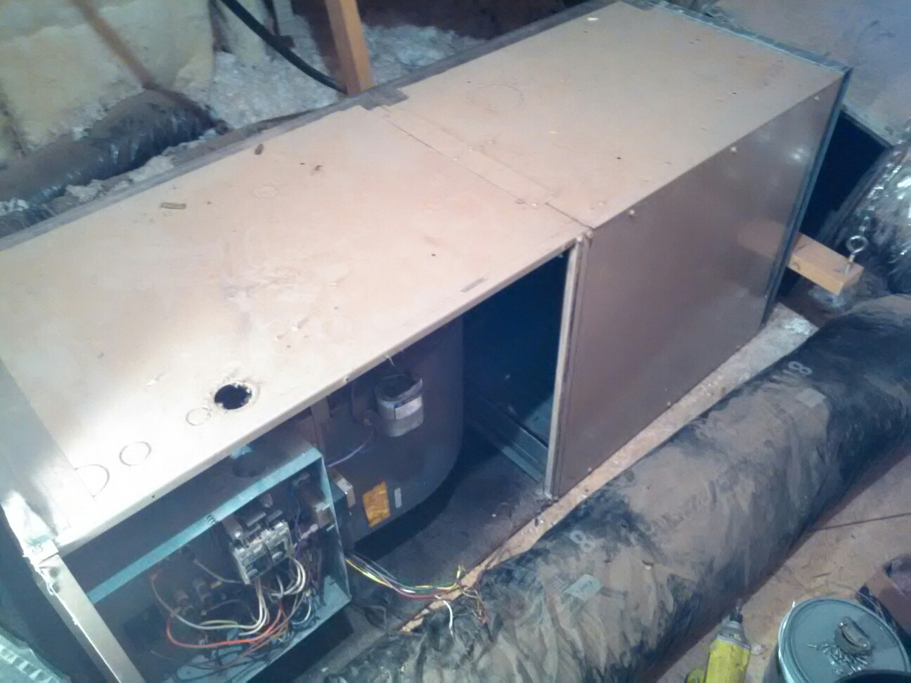 Canyon, TX - Old York air handler removal.