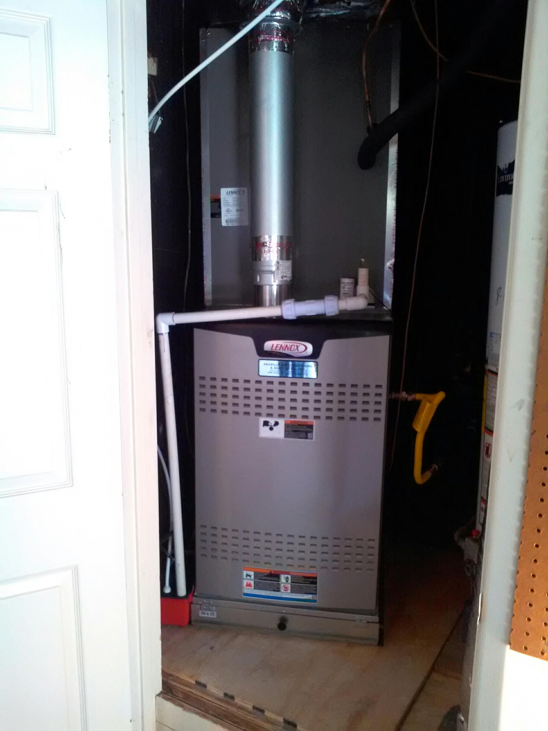 Canyon, TX - New Lennox heating system installation by Amarillo Air Conditioning.