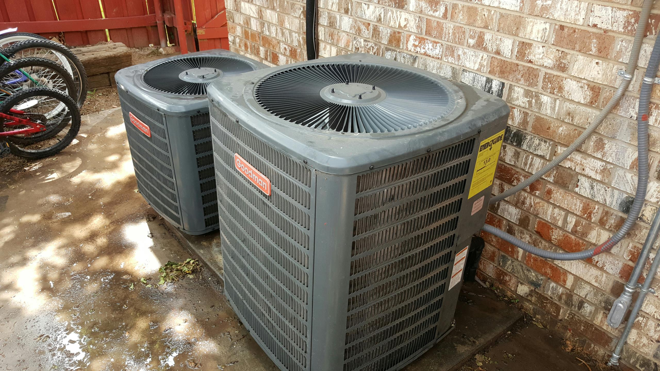 Canyon, TX - 2 Goodman Air Conditioners Spring check up's by Amarillo air conditioning.