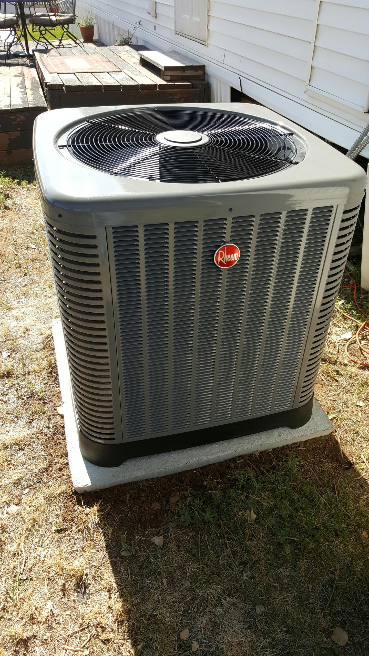 Canyon, TX - New Rheem heat pump installation by Amarillo air conditioning.