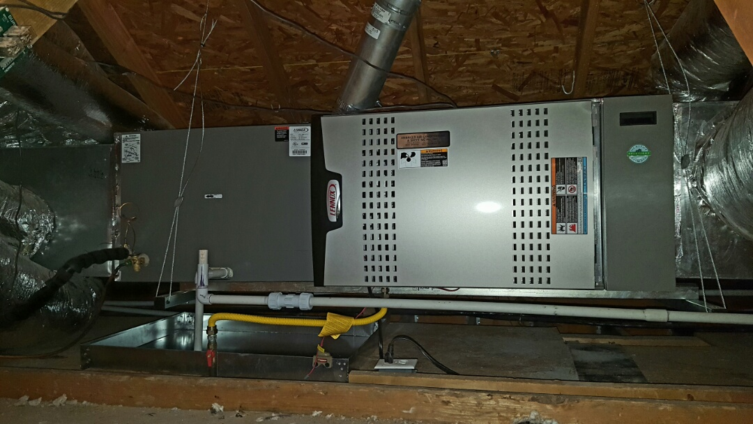 Amarillo, TX - Brand new Lennox furnace and air-conditioning system installed.