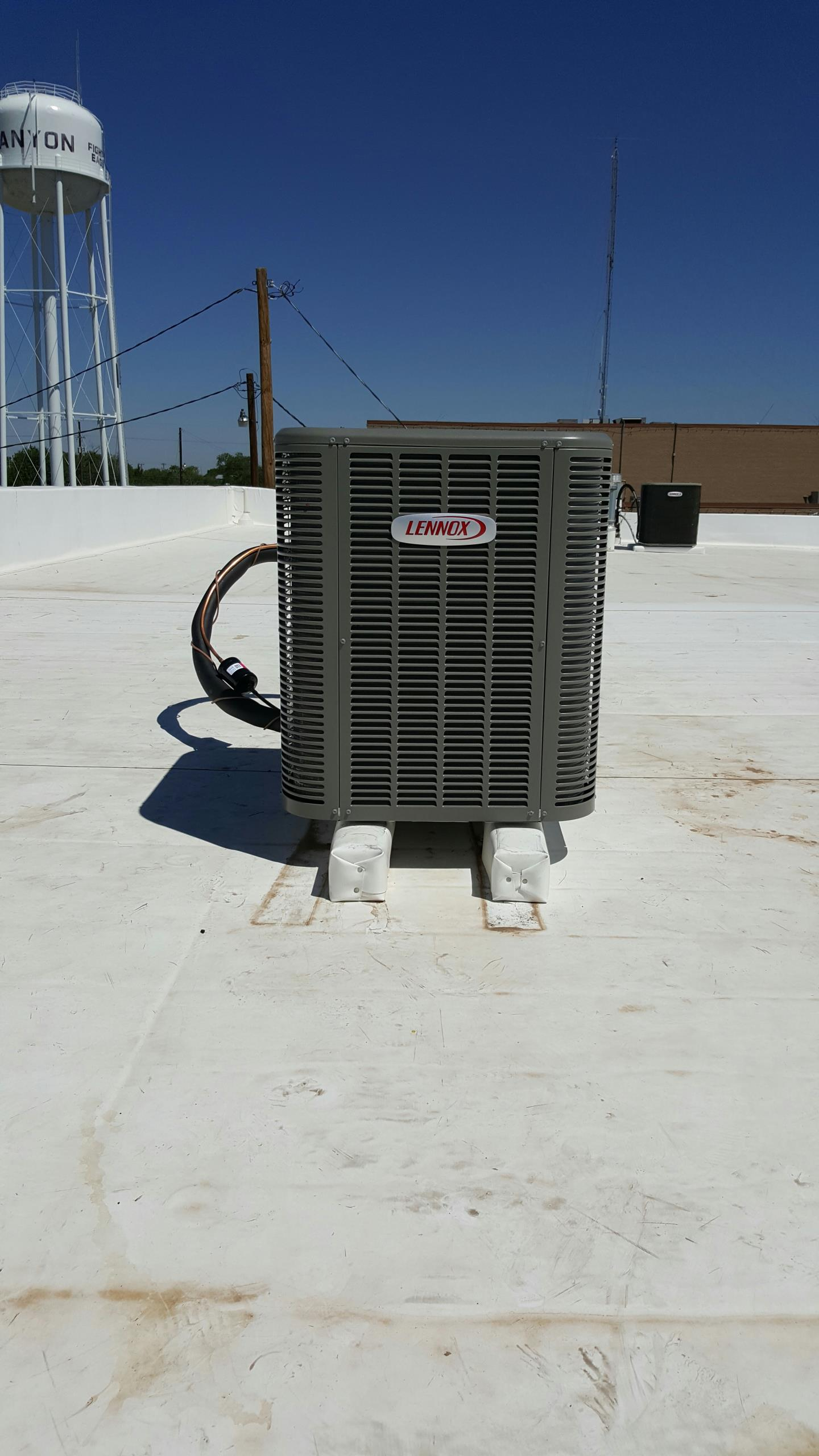 Canyon, TX - New Lennox 3-phase air conditioner installation by Amarillo air conditioning.