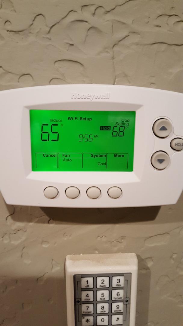Amarillo, TX - New Honeywell WiFi thermostat installed.
