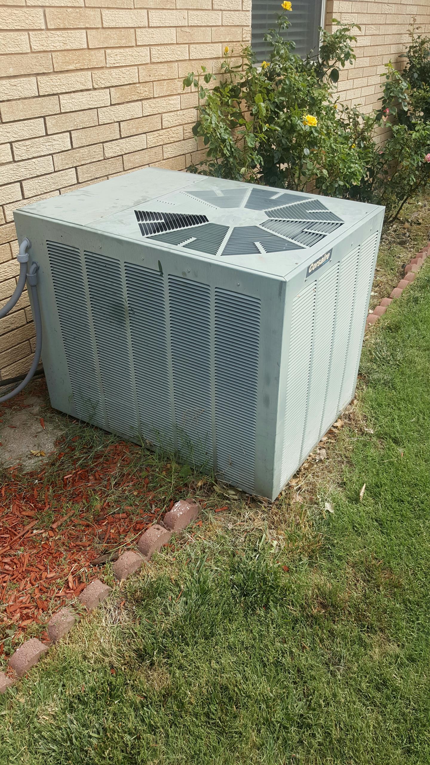 Amarillo, TX - A/C repair on Corsaire condenser.