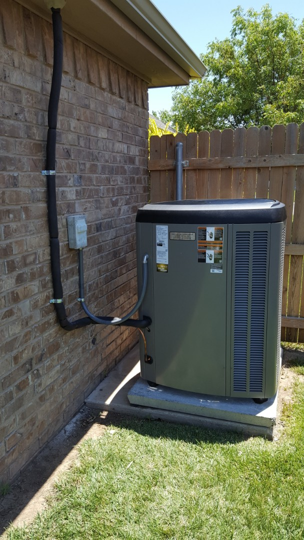 Amarillo, TX - New Lennox high efficiency heating and cooling system installation.